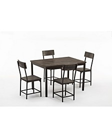 Americano Collection 5 Piece Dining Set with Small Table, 4 Chairs