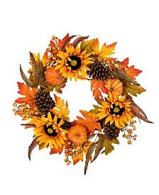 Glitzhome Sunflower Wreath