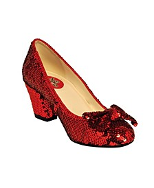 "Women's 2.5"" Sequin Pump with Bow"
