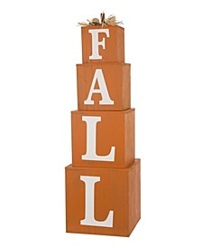 Wooden Fall Nested Box Decor