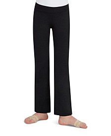 Little and Big Girls Children's Stretch Mid Rise Jazz Pant
