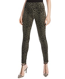 INC Animal-Print Curvy-Fit Skinny Pants, Created for Macy's