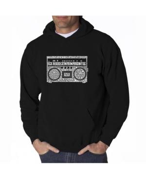 La Pop Art Men's Word Art Hooded Sweatshirt - Greatest Rap Hits of The 1980's