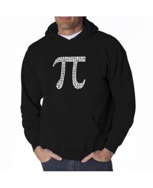 La Pop Art Men's Word Art Hooded Sweatshirt - 100 Digits of Pi