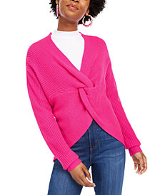 Polly & Esther Juniors' Reversible Twist-Front Sweater