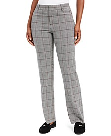 Petite Plaid Straight-Leg Pants, Created For Macy's