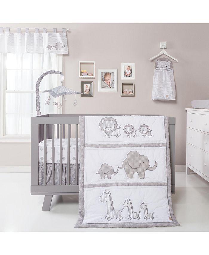 Trend Lab - Safari Chevron 3 Piece Crib Bedding Set