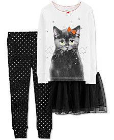 Carter's Toddler Girls 3-Pc. Cat Tutu Pajama Set