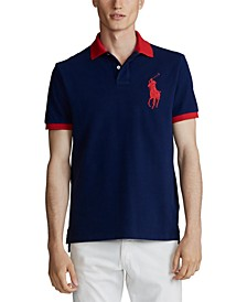 Men's Classic Fit Big Pony Mesh Polo Shirt