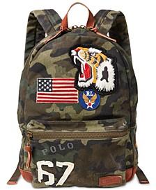 Men's Cotton Canvas Camo Backpack