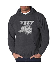 Men's Word Art Hooded Sweatshirt - King of Spades