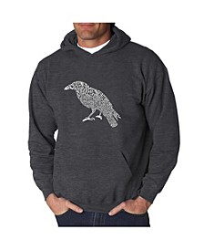 Men's Word Art Hooded Sweatshirt - The Raven