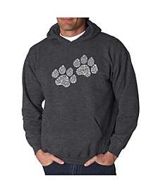 Men's Word Art Hoodie - Woof Paw Prints