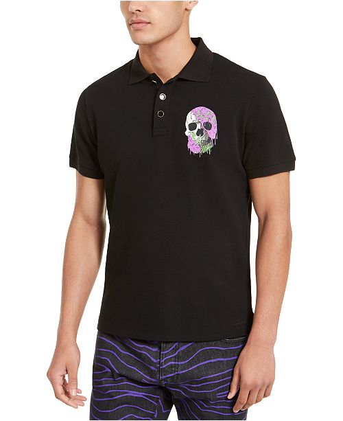 Just Cavalli Men's Skull Graphic Pique Polo Shirt
