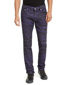 Just Cavalli Men's Straight Leg Zebra Jeans