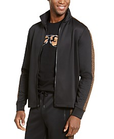 Michael Kors Men's Leopard Trim Track Jacket, Created for Macy's