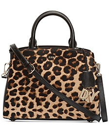 Paige Medium Leopard Satchel, Created for Macy's