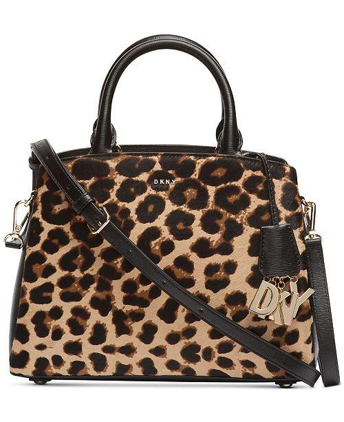 DKNY Paige Medium Leopard Satchel, Created for Macy's