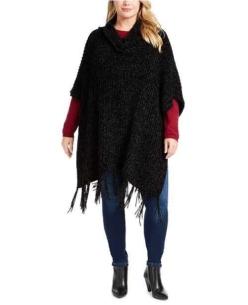 Charter Club Chenille Plus Size Topper, Created for Macy's