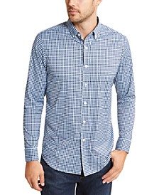 Men's Regular-Fit Performance Stretch Gingham Check Shirt, Created for Macy's