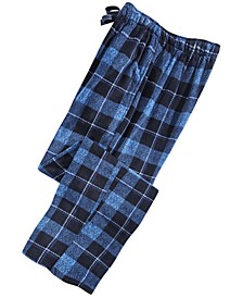 Men's Windowpane Plaid Fleece Pants