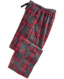 Men's Large-Plaid Fleece Pajama Pants