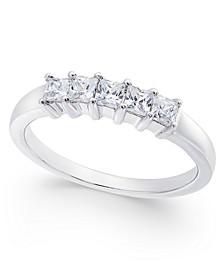 Diamond 5-Stone Princess Band (1/2 ct. t.w.) in 14k White Gold