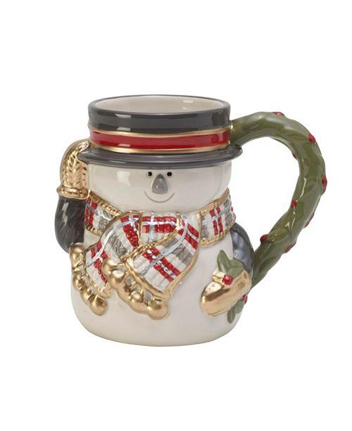Fitz and Floyd Fitz & Floyd Mistletoe Merriment Snowman Mug