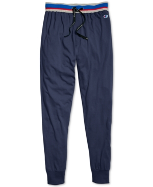 Champion Men's Cotton Jogger Pajama Pants In Imperial Indigo