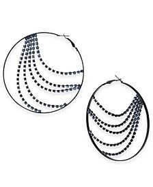 Rhinestone Chain Hoop Earrings, Created For Macy's