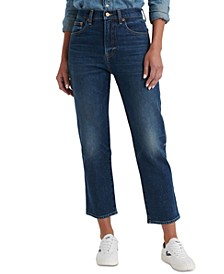 Authentic Straight-Leg Cropped Jeans