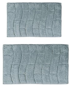 "Castle Hill New Tile 17"" x 24"" and 24"" x 40"" 2-Pc. Bath Rug Set"