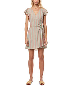 O'Neill Juniors' Maurie Flutter-Sleeve Wrap Dress