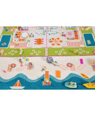 Ivi Beach Houses 3D Kids Play Rug