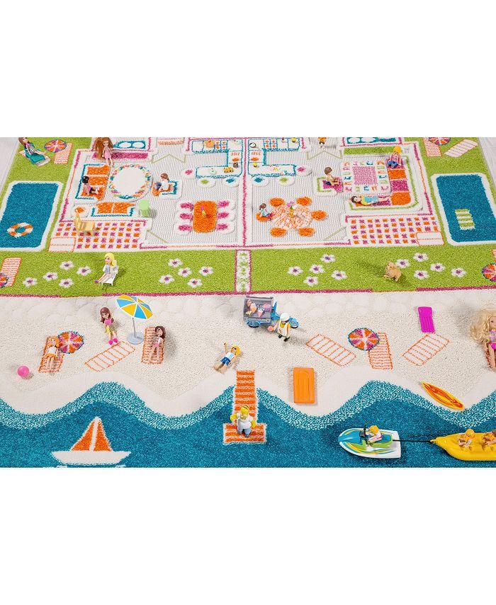IVI - Beach Houses 3D  Kids Play Rug