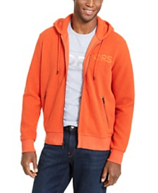 Michael Kors Men's Sherpa Logo Full-Zip Hoodie