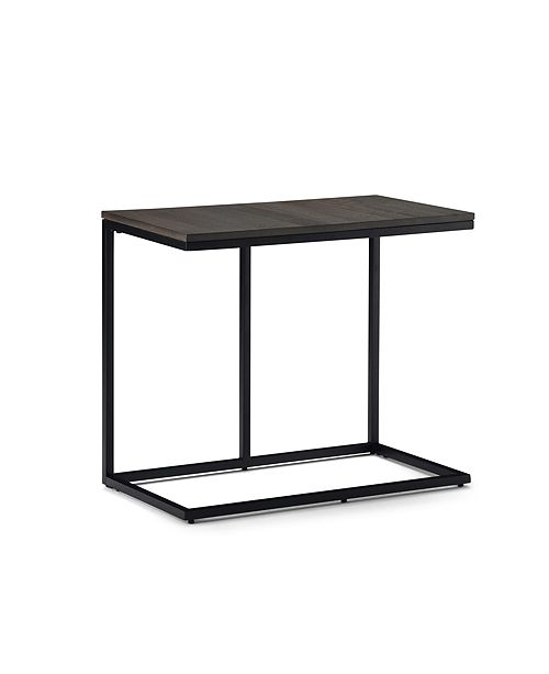 Simpli Home Ward Wide Side Table, Quick Ship