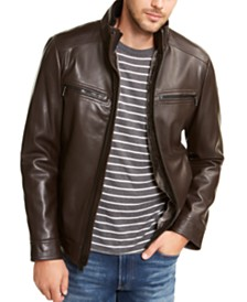 Calvin Klein Men's Sherpa Lined Faux Leather Jacket, Created for Macy's