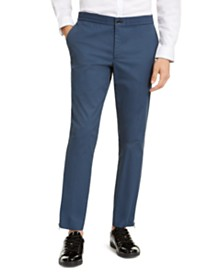 I.N.C. Men's ONYX  Slim-Fit Tech Pants, Created for Macy's