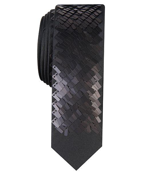 INC International Concepts INC Men's Slim Sequin Panel Tie, Created for Macy's