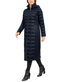 Hooded Maxi Down Puffer Coat