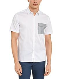 INC ONYX Men's Tech Pocket Shirt, Created for Macy's
