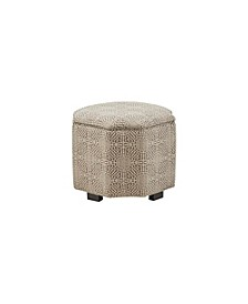 Halsley Accent Ottoman, Quick Ship