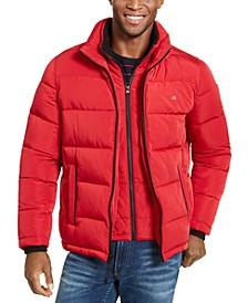 Men's Full-Zip Puffer Coat, Created for Macy's