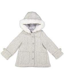 Baby Girls Hooded Faux-Fur-Trim Jacket