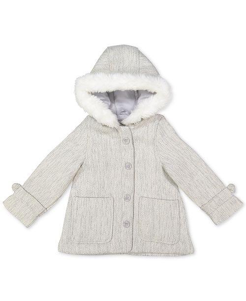 Carter's Baby Girls Hooded Faux-Fur-Trim Jacket