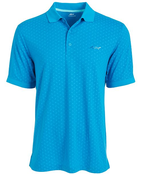 Greg Norman Men's Printed Polo