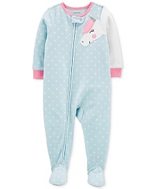 Carter's Toddler Girls Footed Unicorn Pajamas