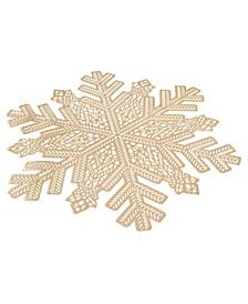 Gold Snowflake Pressed Vinyl Placemat