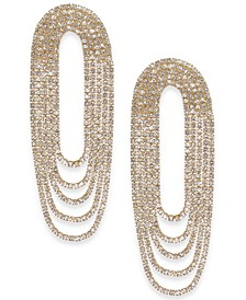 Gold-Tone Crystal Multi-Loop Drop Earrings, Created for Macy's